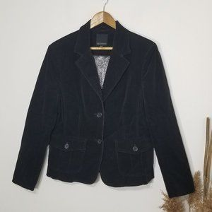 Lady Hathaway | Black Corduroy Blazer Size Medium